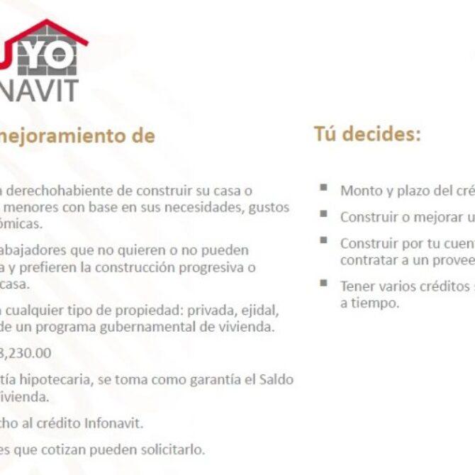 Crédito Yo Construyo Infonavit